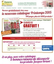 Exemples de r alisations internet sites web et webmarketing for Catalogue jardinerie